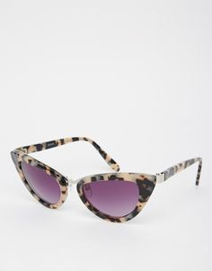 ASOS Handmade Acetate Cat Eye With Nose Bridge Sunglasses DKK299.99