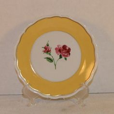 Limoges Yellow Canape Plate Vintage by ShellysSelectSalvage