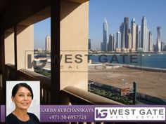 Stunning fully furnished 1bedroom with the sea view in Golden Mile, the Palm - AED 125000  #Dubai #UAE #Villa #garden