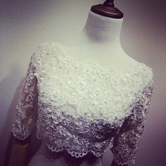 Find More Wedding Jackets / Wrap Information about Real Photo Elegant Boat Neck White Beaded Lace Bridal Bolero 2016 with Half Sleeves Wedding Jacket novia Wedding Accessories B43,High Quality lace,China lace material Suppliers, Cheap lace up flat sandals from LaceBridal on Aliexpress.com