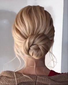Sleek Hair Updo, Sleek Wedding Updo, Straight Hair Updo, Thin Hair Updo, Elegant Ponytail, Wedding Hair Down, Semi Formal Hairstyles, Wedding Hairstyles For Girls, Work Hairstyles