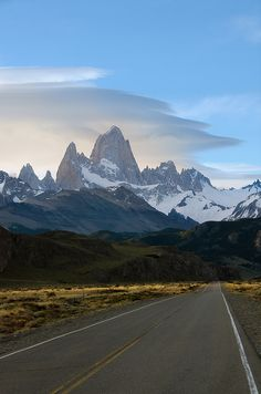 On my way to El Chalten in Santa Cruz Province, Argentina