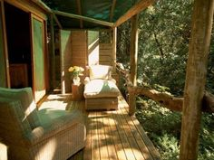 The open air Spa at the Summerfields Retreat is set near the River Deck and can be accessed via raised boardwalks.