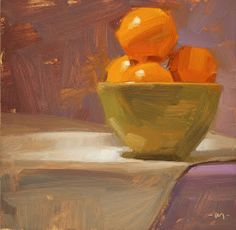 Carol Marine's Painting a Day: Bowl of Sunshine & Tomato Lover
