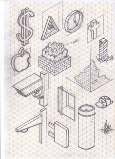 Tag Cool Things To Draw On Isometric Paper - Drawing Artisan | Draw | Pinterest | Isometric Paper