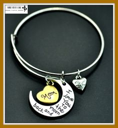 """""""FREE SHIPPING"""" ANTIQUE SILVER GOLD MOTHER MOON & SUN DANGLE CHARMS BANGLE LOVE BRACELET Get Your's Here => http://www.morestuffilike.com/products/antique-silver-gold-mother-moon-sun-dangle-charms-bangle-love-bracelet-free-shipping"""