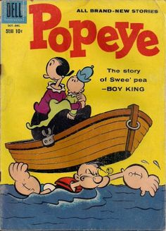 A cover gallery for the comic book Popeye Best Comic Books, Vintage Comic Books, Vintage Cartoon, Vintage Comics, Classic Cartoon Characters, Cartoon Books, Cartoon Posters, Old School Cartoons, Old Cartoons