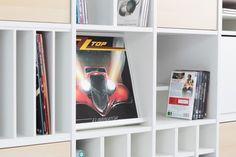 Prospektständer für Ikea Expedit Regal als Schallplatten Display