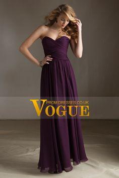2013 Bridesmaid Dresses A Line Sweetheart Floor Length Chiffon