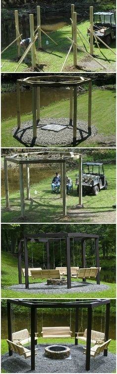 Build swings around a campfire!