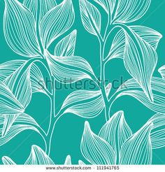 stock-vector--stylish-colorful-vector-floral-leaf-seamless-pattern-with-text-111941765.jpg (450×470)