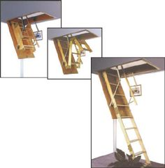Hidden retractable aluminium attic ladder hidden 4 the for Escalera plegable homecenter