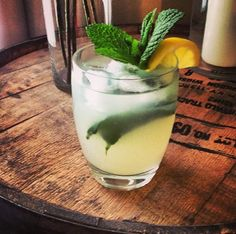 Simply Limeade, fresh mint, fresh squeezed lemon juice, and vodka over ice. Perfect light summer drink!