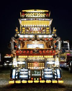 """Japanese Dekotora (or """"decoration truck"""") artists display amazing ingenuity and creativity to create the flashiest truck possible while keeping it operational and street legal. We find these..."""