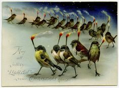 """""""May all jollity 'lighten' your Christmas hours"""" (19th-century Christmas card) (via Lilly Library at Indiana University, Bloomington)"""