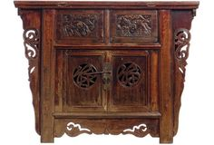 Antique Chinese  Carved Cabinet