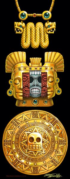Aztec Gold Artifacts.Szekeres by Elf-Fin on deviantART