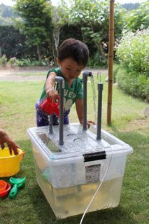 make fountains possibly be able to divert the pump to do 2 functions DIY water table