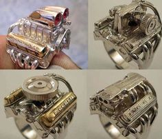 Engine Rings!  [My uncle rebuilds, restores old cars of all types. He even fabricates his own cars, upholstery, parts, etc. He's an amazing person and a true artist.]