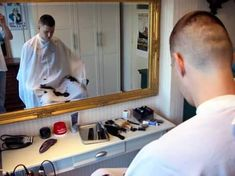 A collection of haircut and barbershop pictures for your viewing pleasure Short Hair Cuts, Short Hair Styles, Barber Shop Haircuts, Flat Top Haircut, Clipper Cut, High And Tight, Shaved Head, Cool Haircuts, Barbershop