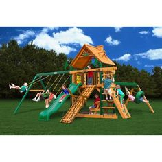 Gorilla Playsets Frontier Cedar Wooden Swing Set - Walmart.com