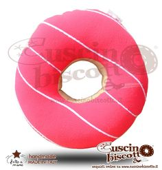 Cuscino Biscotto - Ciambella Glassata / Donuts Fuxia2 (Fatto a mano in Italia)