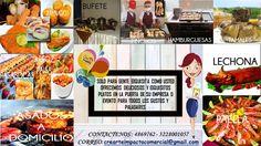 CREARTE IMPACTO - EVENTOS PUBLICITARIOS, EMPRESARIALES Y SOCIALES  solo para gente exquisita como usted ofrecemos deliciosos y exquisitos platos en la puerta de su empresa o evento, para todos los gustos y paladares.😀😋 #comida #comidas #bufete Tamales, Paella, Burgers, Plate, Meals, Events
