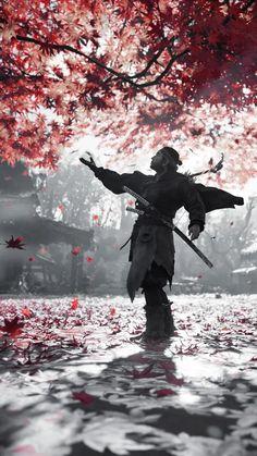 Beautiful Fantasy Art, Dark Fantasy Art, Samurai Wallpaper, Samurai Anime, The Last Samurai, Body Drawing Tutorial, Mundo Dos Games, Samurai Artwork, Ghost Of Tsushima
