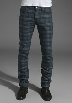 NAKED & FAMOUS DENIM Skinny Guy12oz. in Check Twill Denim at Revolve Clothing - Free Shipping!