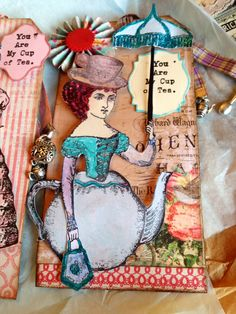 "Artist: Teri Steele Character Constructions ""Tea for Two"" Swap"