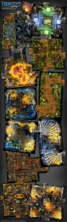 Descent 2nd edition - Lair of The Wyrm expansion by *henning on deviantART