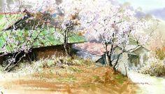 Акварелист Шин Чен Сик (Shin Jong Sik) - современный корейский художник