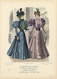 Fashions From History 1890s Fashion, Edwardian Fashion, Vintage Fashion, Edwardian Clothing, Edwardian Era, Vintage Clothing, Historical Costume, Historical Clothing, Vintage Dresses