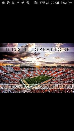 GREAT TO BE A TENNESSEE VOL!