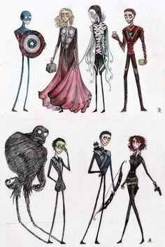 Tim Burton Avengers