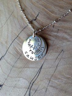 Jennifer Necklace  Sterling Silver Personalized Necklace by sejab