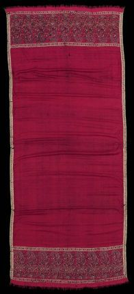 Long shawl (one of a pair). Indian (Kashmiri), late 18th or early 19th century. Wool twill tapestry - in the Museum of Fine Arts Boston.