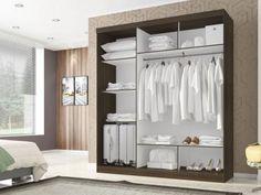 Guarda-roupa Casal 3 Portas de Correr - Poliman Móveis Madri com as melhores condições você encontra no Magazine Milmarcasedes. Confira!