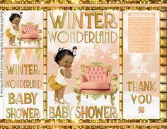 Black Red Gold Sleep Little Gentleman Baby Shower Favors Ethnic African Amercian Printable Potato Chip Bags