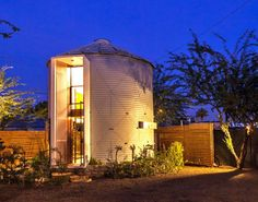 Architect Christoph Kaiser has repurposed a 1950s-era grain silo, transforming it into a cozy home he shares with his wife. Located in Phoenix, Arizona, the dwelling is a stunning example of what's possible with an unconventional—and previously uninhabitable—structure.