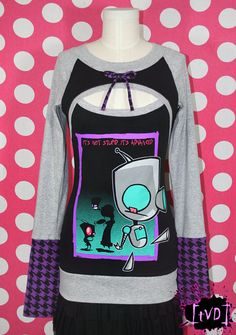 Invader Zim GIR Advanced Keyhole Tunic Top DIY. $110.00, via Etsy. TheVintageDoctor