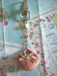 Mini bag keychain amigurumi