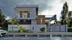 Panash Design Studio - Take a look of our best design list of Commercial Elevation Projects. Bungalow House Design, House Front Design, Modern House Design, Rustic Home Design, Home Design Decor, Interior Design, Front Elevation Designs, House Elevation, G 1