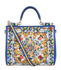 DOLCE  amp  GABBANA Sicily Majolica Print Shopper Bag.  dolcegabbana  bags   shoulder 650a86968d981
