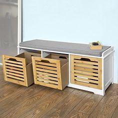 schuhregal sitzbank schuhschrank mit sitzfl che schuhbank bank sitzkommode in m bel wohnen. Black Bedroom Furniture Sets. Home Design Ideas