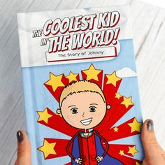 The Coolest Kid in the World Personalized Children's   Etsy List Of Characters, Fictional Characters, Hard Cover Binding, Personalised Childrens Books, Cartoon Kids, Bedtime Stories, Kid Names, Cool Kids, Cute Gifts