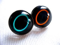 Portal-inspired earrings