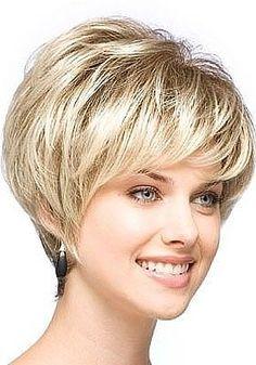 short wedge haircut - Like! Short Wedge Haircut, Short Wedge Hairstyles, Short Layered Haircuts, Short Hairstyles For Women, Wig Hairstyles, Straight Hairstyles, Pixie Haircuts, Female Hairstyles, Layered Hairstyles