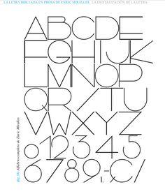 la letra de Enric Miralles digitalizada