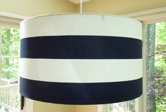 Large Modern Drum Lampshade Pendant Light in by LampShadeDesigns, $220.00